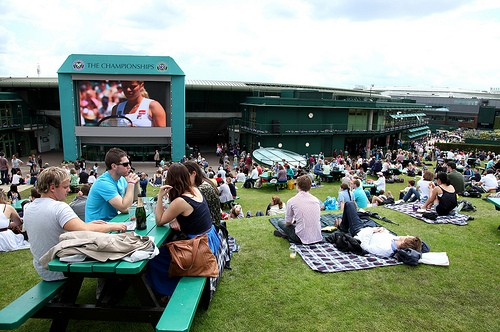 Henman Hill/Murray's Mound at Wimbledon