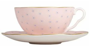 Wedgwood Harlequin polka dot teacup and saucer